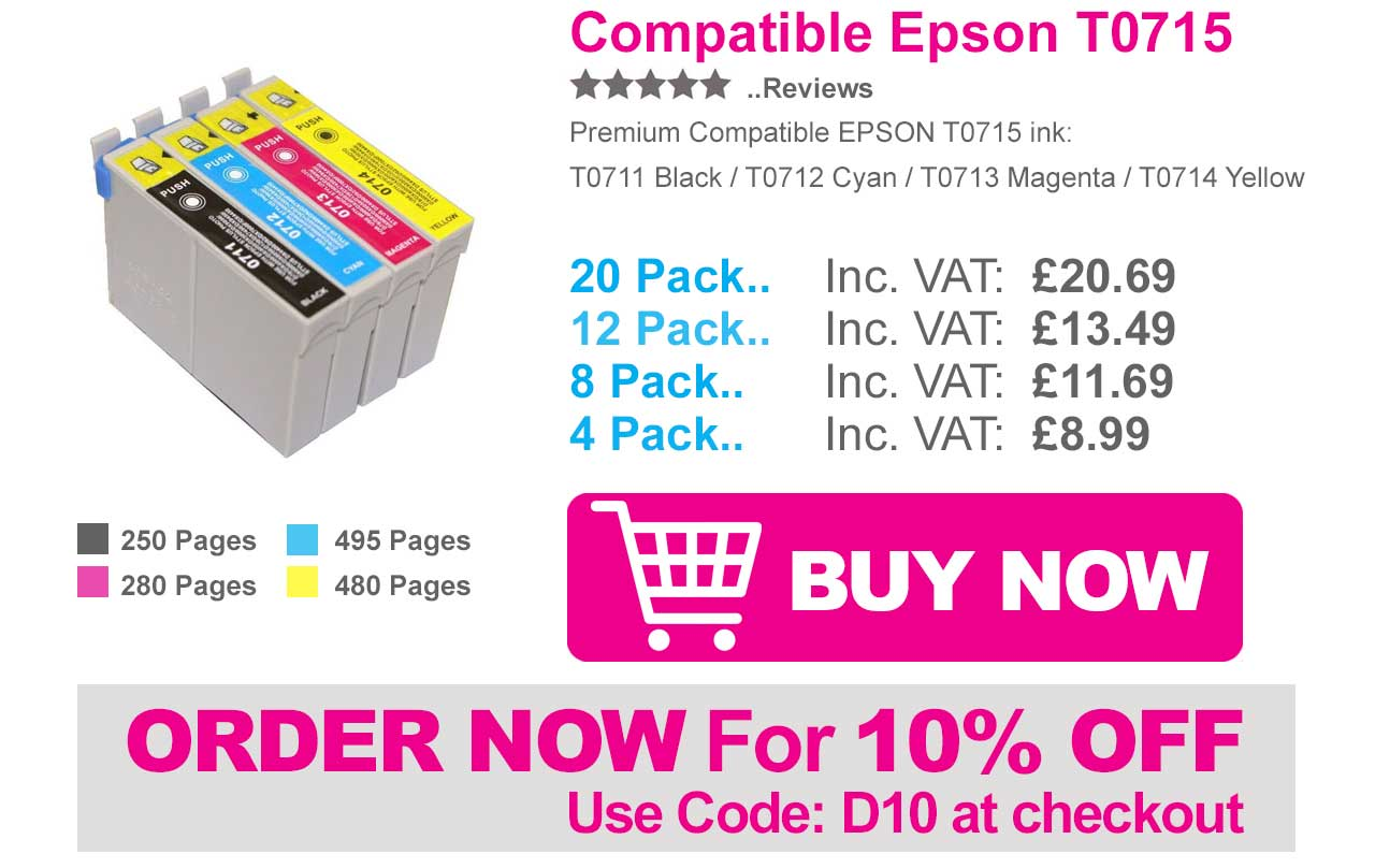 Epson Stylus SX218 Ink Cartridges